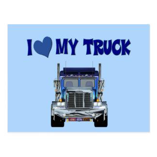 I Love My Truck Postcard