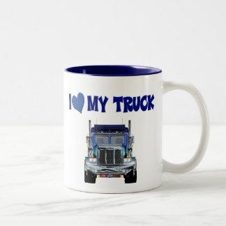 I Love My Truck Two-Tone Coffee Mug