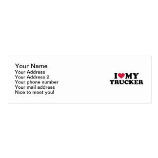 I love my trucker mini business card
