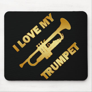 I LOVE MY TRUMPET MOUSE PAD