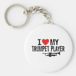 I Love My Trumpet Player Key Chains