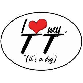 I Love My TT (It's a Dog) Photo Sculpture Ornament