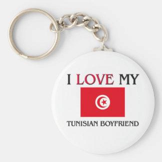 I Love My Tunisian Boyfriend Basic Round Button Keychain