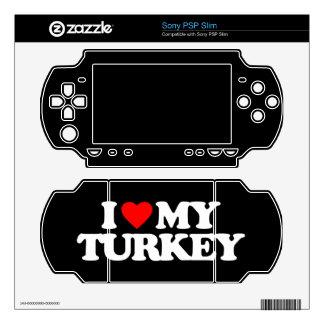 I LOVE MY TURKEY SKINS FOR THE PSP SLIM