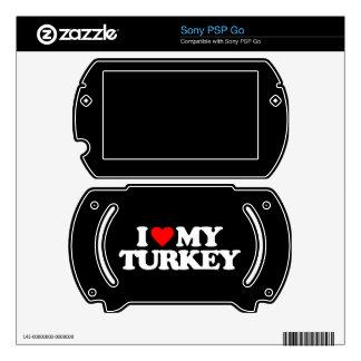 I LOVE MY TURKEY SONY PSP GO SKINS