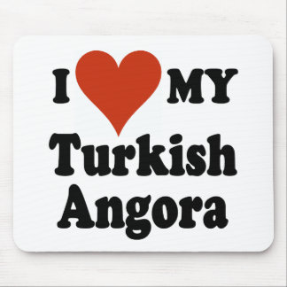 I Love My Turkish Angora Cat Mouse Pad
