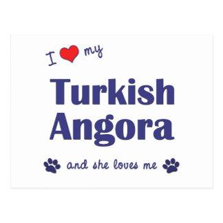 I Love My Turkish Angora (Female Cat) Postcards