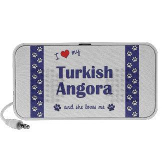 I Love My Turkish Angora (Female Cat) Notebook Speaker