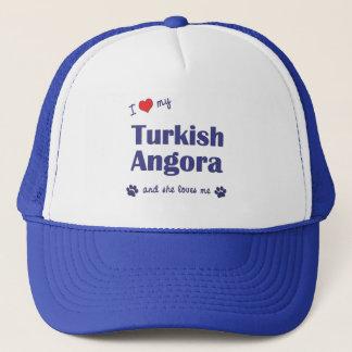 I Love My Turkish Angora (Female Cat) Trucker Hat