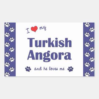 I Love My Turkish Angora (Male Cat) Sticker