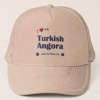 I Love My Turkish Angora (Male Cat) Trucker Hat