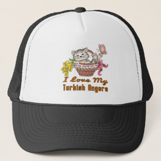I Love My Turkish Angora Trucker Hat
