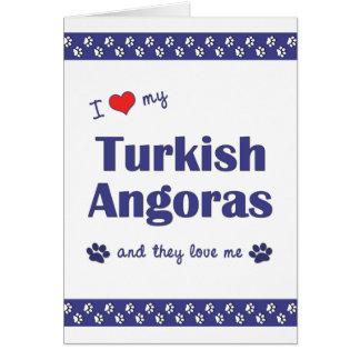 I Love My Turkish Angoras (Multiple Cats) Card