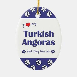 I Love My Turkish Angoras (Multiple Cats) Christmas Ornament