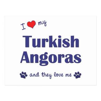 I Love My Turkish Angoras (Multiple Cats) Postcards