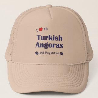 I Love My Turkish Angoras (Multiple Cats) Trucker Hat