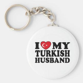 I Love My Turkish Husband Keychain