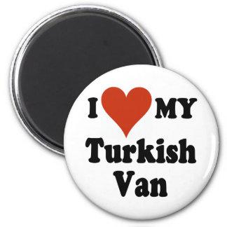 I Love My Turkish Van Cat 2 Inch Round Magnet