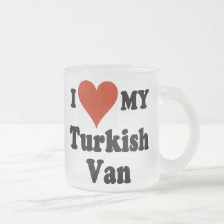 I Love My Turkish Van Frosted Coffee Mug