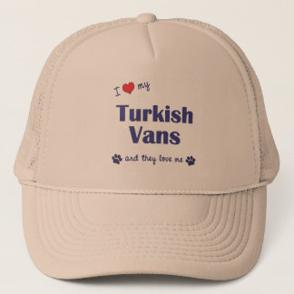 I Love My Turkish Vans (Multiple Cats) Trucker Hat