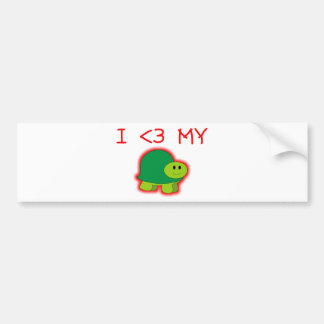 I Love My Turtle Bumper Sticker
