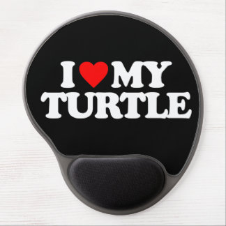 I LOVE MY TURTLE GEL MOUSE PAD