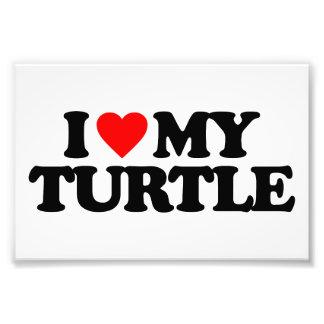 I LOVE MY TURTLE PHOTO PRINT
