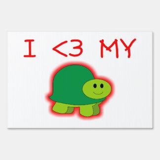 I Love My Turtle Yard Signs