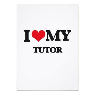 I love my Tutor 5x7 Paper Invitation Card