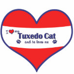 I Love My Tuxedo Cat (Male Cat) Acrylic Cut Out