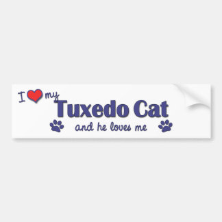 I Love My Tuxedo Cat (Male Cat) Bumper Sticker