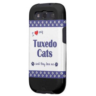 I Love My Tuxedo Cats (Multiple Cats) Samsung Galaxy SIII Cover