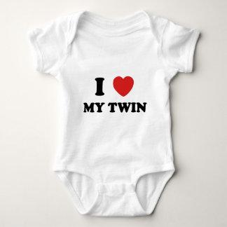 I Love My Twin Baby Bodysuit
