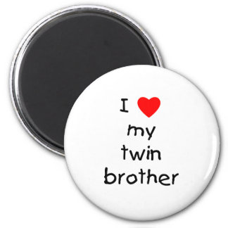 I Love My Twin Brother 2 Inch Round Magnet