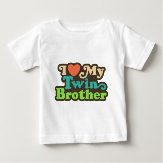 I Love My Twin Brother Baby T-Shirt