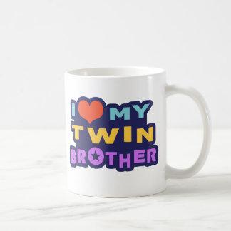 I Love My Twin Brother Classic White Coffee Mug