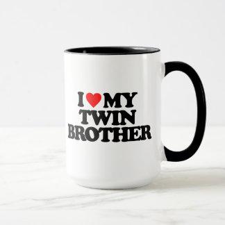 I LOVE MY TWIN BROTHER MUG