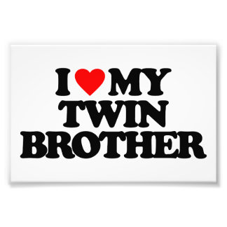 I LOVE MY TWIN BROTHER PHOTO