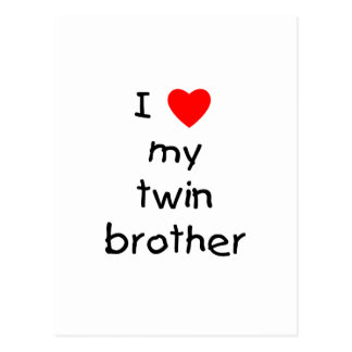 I Love My Twin Brother Postcard