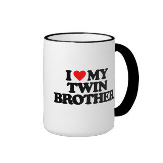 I LOVE MY TWIN BROTHER RINGER MUG