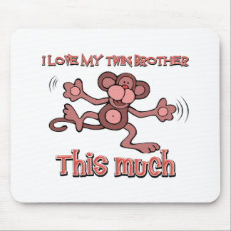 I love my Twin brother this much Mouse Pad