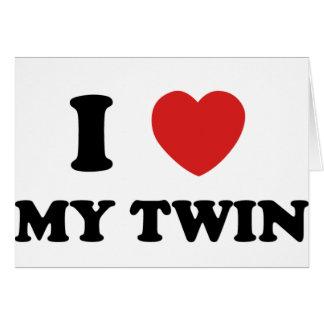 I Love My Twin Card