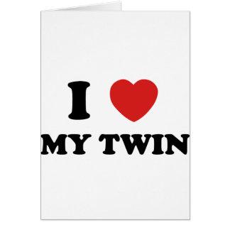 I Love My Twin Greeting Card
