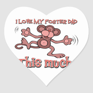 I love my Twin forster this much Heart Sticker