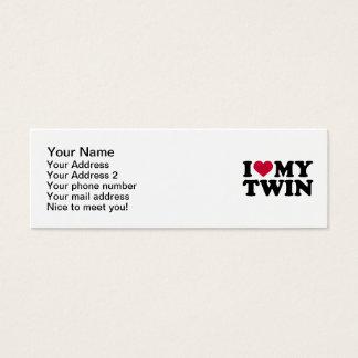 I love my twin mini business card