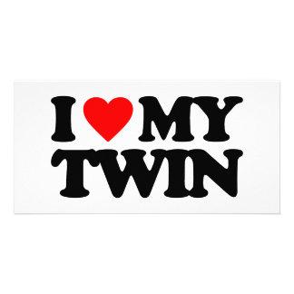 I LOVE MY TWIN PHOTO CARD