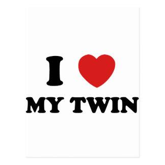 I Love My Twin Post Card