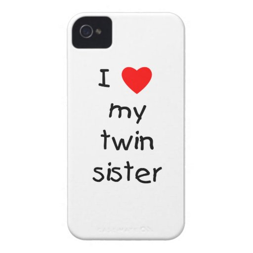 I Love My Twin Sister iPhone 4 Case-Mate Cases