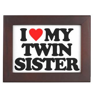 I LOVE MY TWIN SISTER KEEPSAKE BOXES