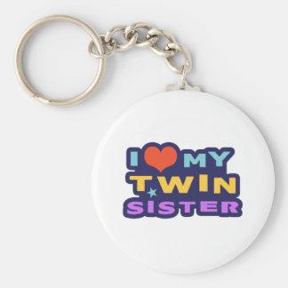I Love My Twin Sister Keychain